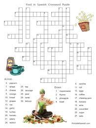 food puzzles u2013 printable spanish