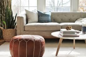 Repaint Leather Sofa Linen Leather Den Reveal Part 1