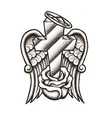 coloring pages of crosses with wings eliolera com