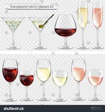 martini transparent set transparent vector glass goblets wine stock vector 469293281
