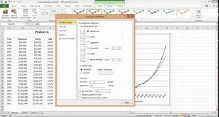 Sales And Expenses Spreadsheet Excel Charts Creating A Revenue Forecast Youtube