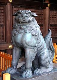 japanese guard dog statues homepage of vladimir dinets japan in winter part 1 of 14