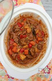 slow cooker beef caldereta filipino beef stew serve with jasmine
