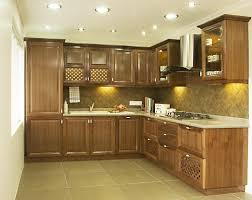 Fascinating Backsplash Ideas For L Shaped Small Kitchen Design Kitchen Room Mozaic Teak Wood Kitchen Cabinets For Small Space
