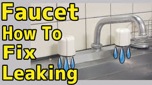 how to fix a leaking faucet youtube