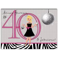 chic gal disco 40th birthday invitations paperstyle