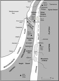 Map Of Palestine The Bible Journey The Landscapes Of Palestine
