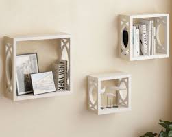 wall shelf set with led candles