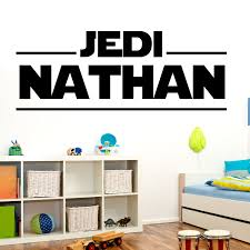 personalized customized star wars wall decal name by happywallz wall sticker