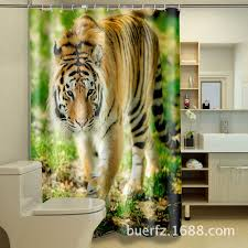 White Tiger Shower Curtain Tiger Shower Curtains Curtain Collections