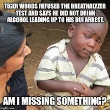 Tiger Woods Meme - tiger woods dui arrest imgflip