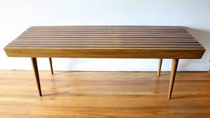 coffee table mid century modern slatted bench coffee table picked