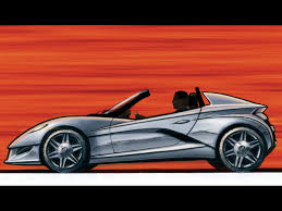 sports cars drawings 2005 edag show car no 8 drawing side 1024x768 wallpaper