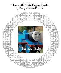 thomas tank engine party games free printable games