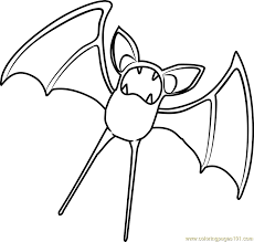 zubat pokemon coloring pages images pokemon images