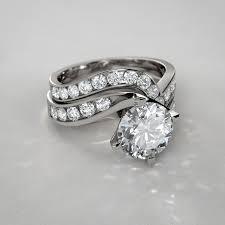 wedding set twist diamond wedding set in 14k white gold