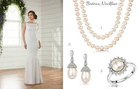 pearl necklace wedding dress images What jewellery suits my wedding dress 4 styles to match your neckline jpg