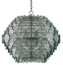 Recycled Glass Light Fixtures by Braithwell Chandelier Currey U0026 Company