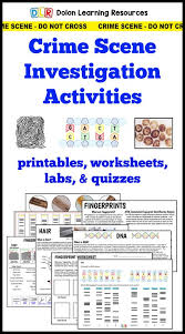 forensic science crime scene investigation activities
