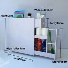 Thin Bathroom Cabinet by Details About Slim Bathroom Storage Cupboard Thin Cabinet Unit
