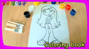 draw bratz doll coloring pages kids episodes