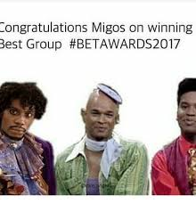 Migos Meme - ongratulations migos on winning best group meme on sizzle