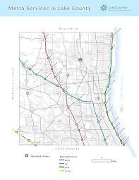 Kenosha Map Metra Rail Lake County Il