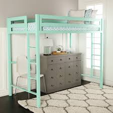 Bed Furniture Amazon Com We Furniture Premium Twin Metal Loft Bed Mint