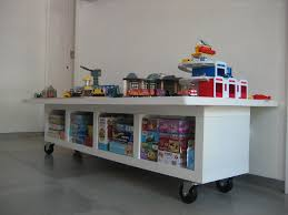 kids play table with storage clever idea train table made from lack storage unit and door