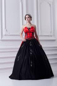 brautkleid gã nstig kaufen schwarz rot brautkleider quinceanera kleider günstig prinzessin