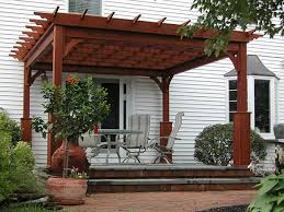 Attaching Pergola To House by Wooden Pergolas Pressure Treated Pine Pergolas By Baldwin