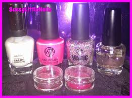 sassylittlenails w7 products review with nail art