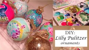 diy lilly pulitzer inspired ornaments