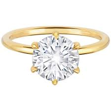 engagement rings yellow gold marisa perry 2 22 carat diamond engagement ring in yellow