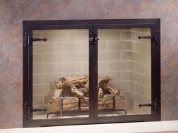 glass door fireplace screens fleshroxon decoration