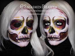 halloween colorful skull makeup tutorial 2017 smashinbeauty youtube