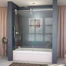 frameless chrome bathtub doors shower doors the home depot
