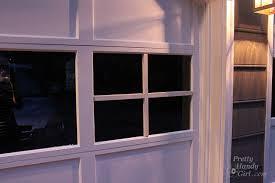 adding grilles to garage door windows pretty handy