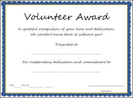 volunteer certificate template free download d templates high