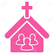 pink flat color church icon this flat glyph symbol uses pink color rounded