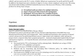 Auditor Sample Resume by Internal Audit Resume Objective Reentrycorps