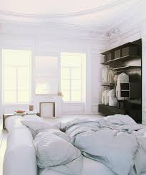 Interior Design Soft by Parisian Apartment Soft White Cotton Bedding With Fireplace