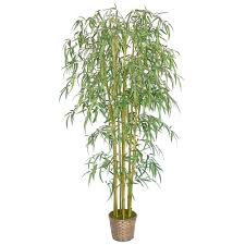laura ashley 6 ft tall realistic silk bamboo tree with wicker