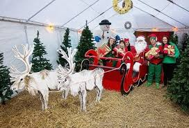 where are santa s grottos in and around greater manchester this