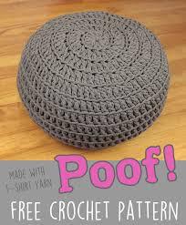 Crochet Ottoman Free Crochet Pattern Poof Floor Pillow Pouf Ottoman