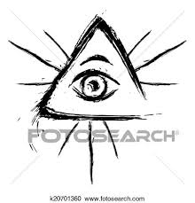 clipart of all seeing eye k20701360 search clip