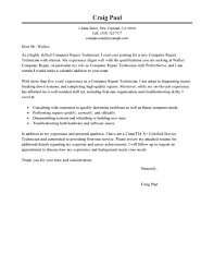 Request Letter For Certification Of Employment Exles Best Computer Repair Technician Cover Letter Examples Livecareer