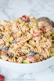 creamy pasta salad recipe taco pasta salad recipe dinners dishes and desserts