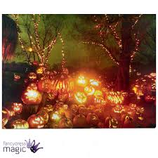 Light Up Halloween Tree by Led Light Up Canvas Halloween Pumpkin Scene Picture Wall Home
