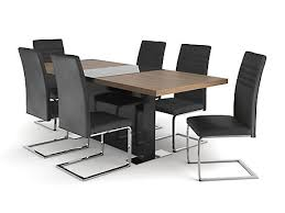 Black Glass Extending Dining Table Dining Tables Wood Glass Extended Harveys Furniture